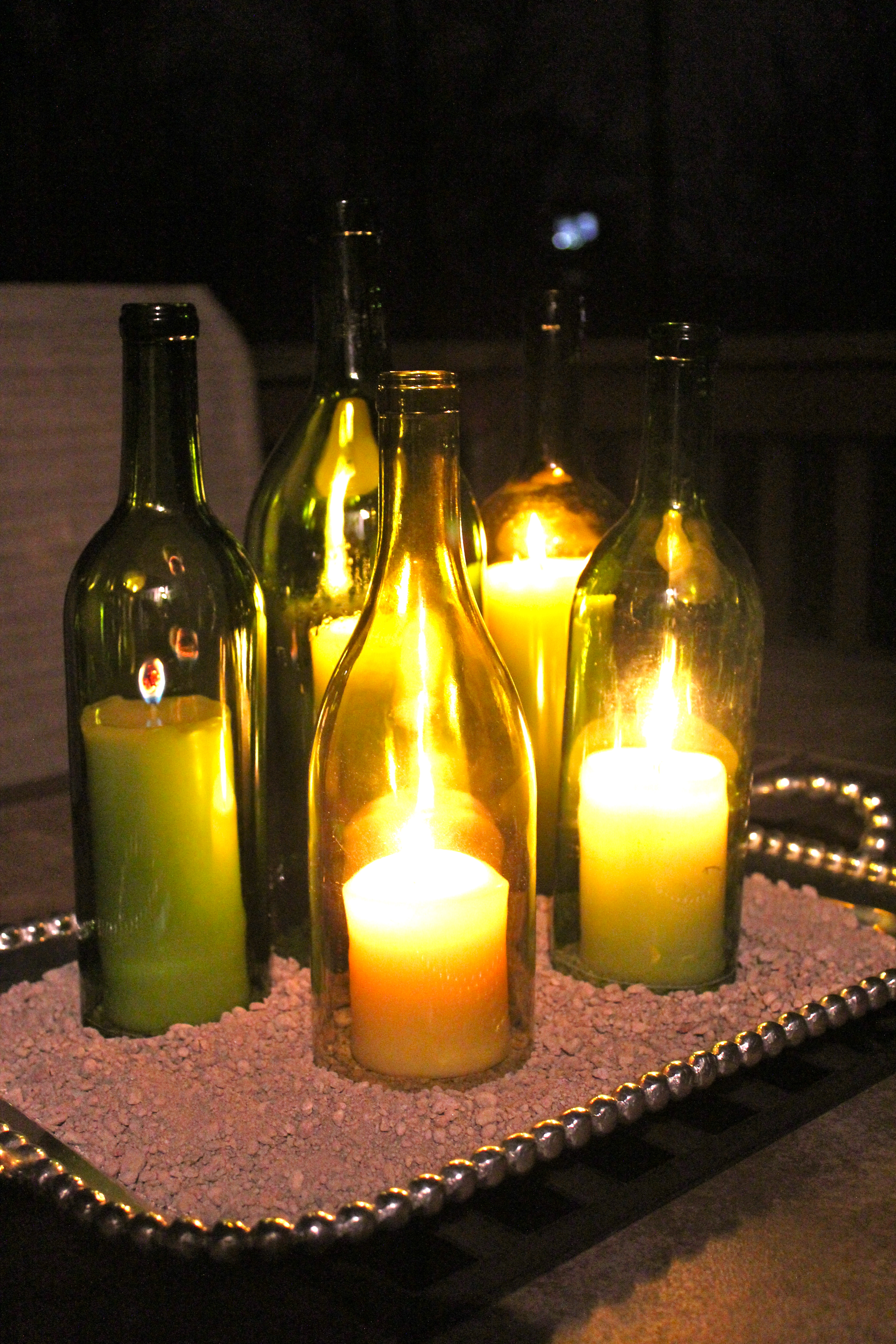 How To Wine Bottle Centerpieces Hayes Everyday